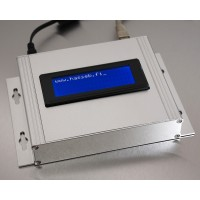 Raspberry Pi Compute Module with Ethernet, aluminium enclosure, and 20x4 LCD display